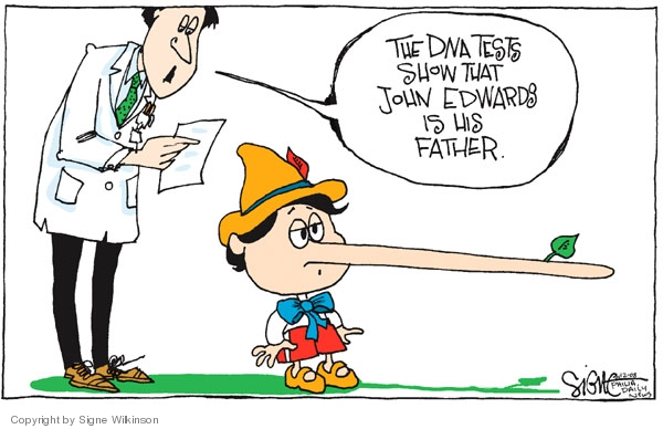 Signe Wilkinson  Signe Wilkinson's Editorial Cartoons 2008-08-12 lie