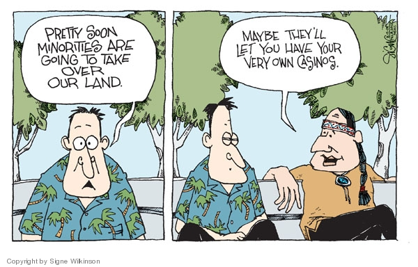 Signe Wilkinson  Signe Wilkinson's Editorial Cartoons 2008-08-15 majority minority