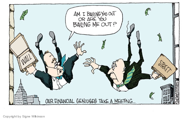 Signe Wilkinson  Signe Wilkinson's Editorial Cartoons 2008-09-17 stock market