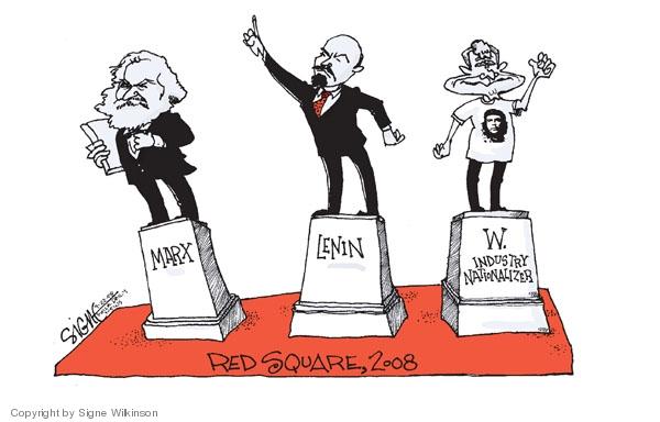 Signe Wilkinson  Signe Wilkinson's Editorial Cartoons 2008-09-22 political leader