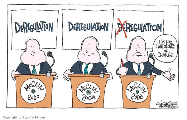 Signe Wilkinson  Signe Wilkinson's Editorial Cartoons 2008-09-23 financial crisis