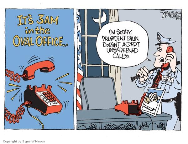 Signe Wilkinson  Signe Wilkinson's Editorial Cartoons 2008-09-29 Sarah Palin