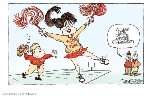 Signe Wilkinson  Signe Wilkinson's Editorial Cartoons 2008-10-06 Sarah Palin