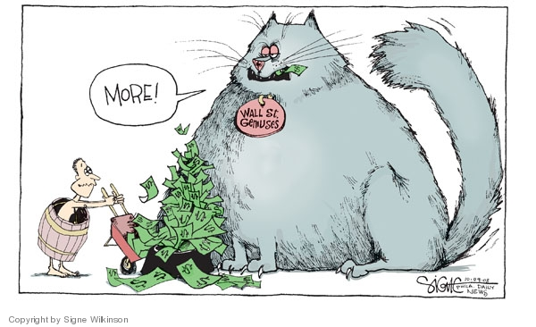 Signe Wilkinson  Signe Wilkinson's Editorial Cartoons 2008-10-09 financial crisis