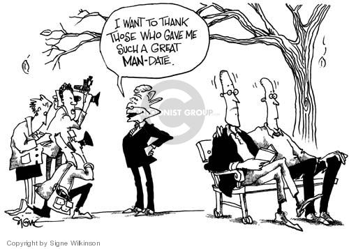 Cartoonist Signe Wilkinson  Signe Wilkinson's Editorial Cartoons 2004-11-04 candidate