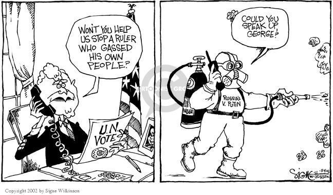 Signe Wilkinson  Signe Wilkinson's Editorial Cartoons 2002-11-04 George Washington