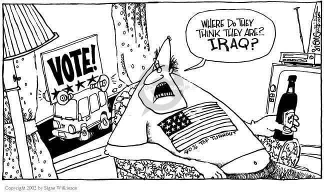 Signe Wilkinson  Signe Wilkinson's Editorial Cartoons 2002-11-05 voter turnout