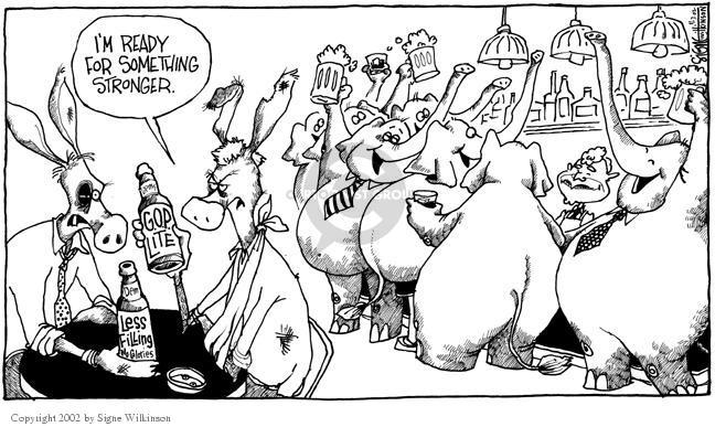 Signe Wilkinson  Signe Wilkinson's Editorial Cartoons 2002-11-07 majority minority