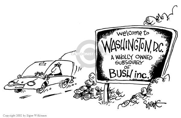 Signe Wilkinson  Signe Wilkinson's Editorial Cartoons 2002-11-08 George Washington
