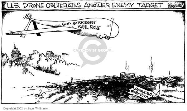 Signe Wilkinson  Signe Wilkinson's Editorial Cartoons 2002-11-08 drone
