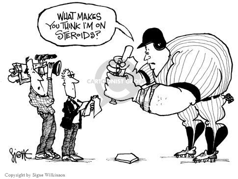 Signe Wilkinson  Signe Wilkinson's Editorial Cartoons 2003-11-17 baseball player