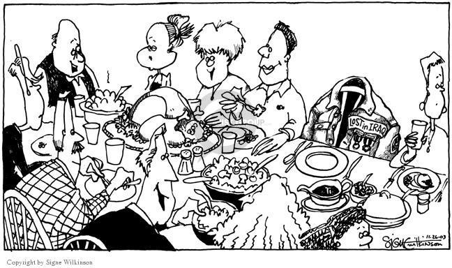 Cartoonist Signe Wilkinson  Signe Wilkinson's Editorial Cartoons 2003-11-26 honor