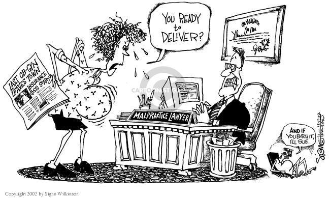 Cartoonist Signe Wilkinson  Signe Wilkinson's Editorial Cartoons 2002-12-11 cost