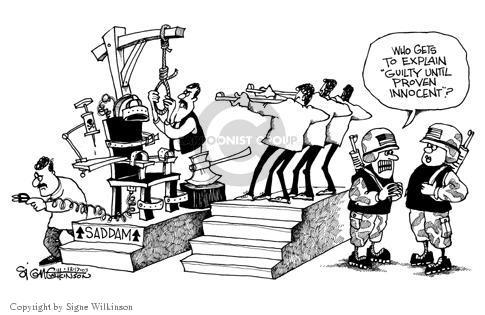 Signe Wilkinson  Signe Wilkinson's Editorial Cartoons 2003-12-16 guilty verdict