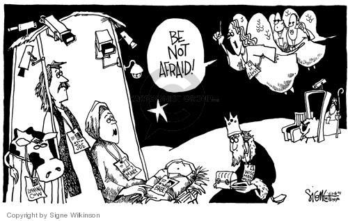 Signe Wilkinson  Signe Wilkinson's Editorial Cartoons 2004-12-16 afraid