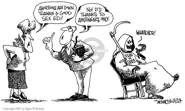 Cartoonist Signe Wilkinson  Signe Wilkinson's Editorial Cartoons 2002-12-19 sexual activity