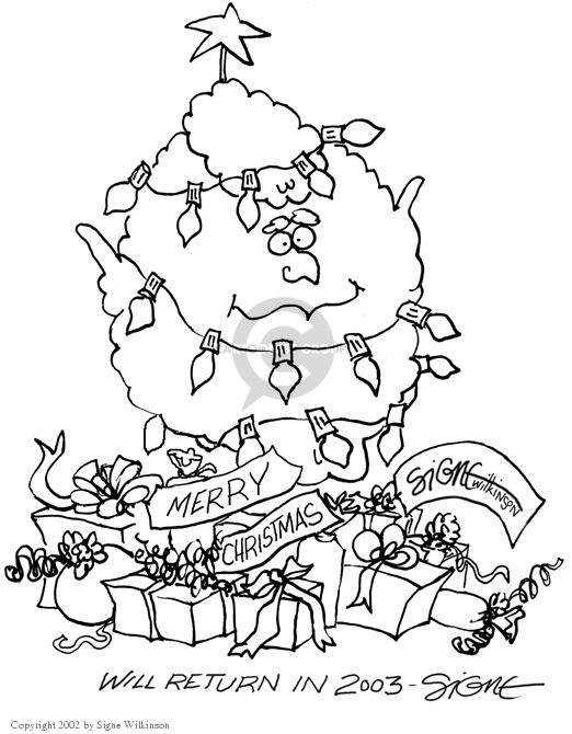 Cartoonist Signe Wilkinson  Signe Wilkinson's Editorial Cartoons 2002-12-23 George W. Bush