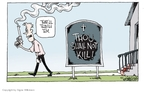 Cartoonist Signe Wilkinson  Signe Wilkinson's Editorial Cartoons 2009-06-02 church