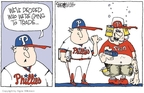 Cartoonist Signe Wilkinson  Signe Wilkinson's Editorial Cartoons 2009-07-28 Philadelphia Phillies