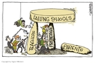 Cartoonist Signe Wilkinson  Signe Wilkinson's Editorial Cartoons 2010-03-10 education