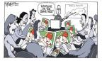 Cartoonist Signe Wilkinson  Signe Wilkinson's Editorial Cartoons 2010-10-08 Major League Baseball