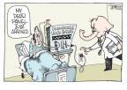 Cartoonist Signe Wilkinson  Signe Wilkinson's Editorial Cartoons 2011-01-07 health care repeal