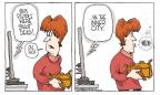 Cartoonist Signe Wilkinson  Signe Wilkinson's Editorial Cartoons 2011-01-14 gun