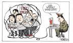 Cartoonist Signe Wilkinson  Signe Wilkinson's Editorial Cartoons 2011-03-09 press freedom