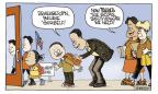 Cartoonist Signe Wilkinson  Signe Wilkinson's Editorial Cartoons 2011-04-05 education