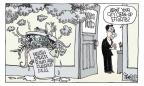 Signe Wilkinson  Signe Wilkinson's Editorial Cartoons 2011-04-27 conflict of interest