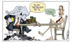 Cartoonist Signe Wilkinson  Signe Wilkinson's Editorial Cartoons 2011-08-02 bipartisan