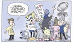 Cartoonist Signe Wilkinson  Signe Wilkinson's Editorial Cartoons 2011-11-11 football coach