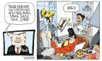 Cartoonist Signe Wilkinson  Signe Wilkinson's Editorial Cartoons 2011-12-07 2012 election economy