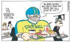 Cartoonist Signe Wilkinson  Signe Wilkinson's Editorial Cartoons 2012-02-13 football player