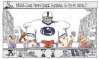 Cartoonist Signe Wilkinson  Signe Wilkinson's Editorial Cartoons 2012-07-25 football player