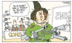 Cartoonist Signe Wilkinson  Signe Wilkinson's Editorial Cartoons 2012-10-17 gun