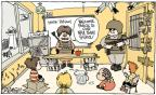 Cartoonist Signe Wilkinson  Signe Wilkinson's Editorial Cartoons 2013-01-04 violent
