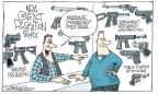 Cartoonist Signe Wilkinson  Signe Wilkinson's Editorial Cartoons 2013-02-14 gun