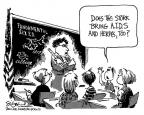 Cartoonist Signe Wilkinson  Signe Wilkinson's Editorial Cartoons 1983-05-20 classroom