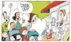 Cartoonist Signe Wilkinson  Signe Wilkinson's Editorial Cartoons 2013-05-19 drink