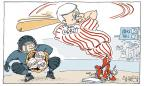 Cartoonist Signe Wilkinson  Signe Wilkinson's Editorial Cartoons 2013-07-07 ball