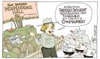 Cartoonist Signe Wilkinson  Signe Wilkinson's Editorial Cartoons 2013-10-20 procedure