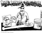 Cartoonist Signe Wilkinson  Signe Wilkinson's Editorial Cartoons 2002-08-14 baseball