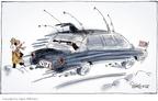 Cartoonist Signe Wilkinson  Signe Wilkinson's Editorial Cartoons 2006-02-14 gunfire