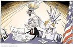 Cartoonist Signe Wilkinson  Signe Wilkinson's Editorial Cartoons 2006-07-03 supreme