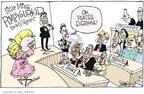 Cartoonist Signe Wilkinson  Signe Wilkinson's Editorial Cartoons 2006-08-18 little