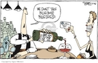 Cartoonist Signe Wilkinson  Signe Wilkinson's Editorial Cartoons 2006-11-03 insurance payment