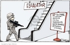 Cartoonist Signe Wilkinson  Signe Wilkinson's Editorial Cartoons 2007-01-12 weapon