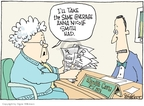 Cartoonist Signe Wilkinson  Signe Wilkinson's Editorial Cartoons 2007-04-06 blood pressure