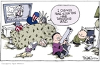 Cartoonist Signe Wilkinson  Signe Wilkinson's Editorial Cartoons 2007-08-16 danger